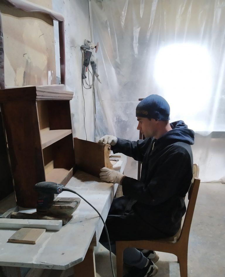 Restoration of wooden furniture